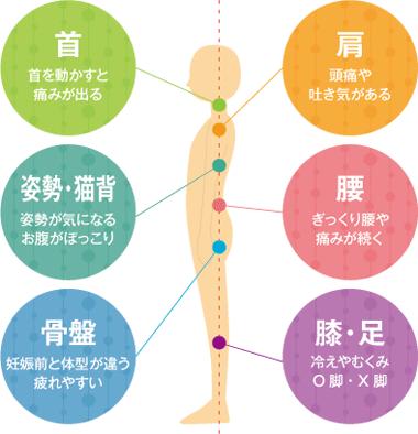 「肩」「腰」など様々な痛みを根本改善